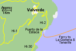Detailed Map of Valverde Ferry Port
