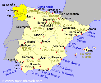 Map Of North Spain Coast.Map Of North West Spain Coast Twitterleesclub