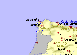 Map of the Ribeira area, fully zoomed out