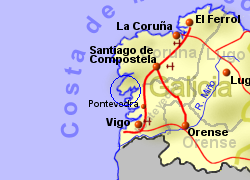 Map of the Ribeira area, normal view