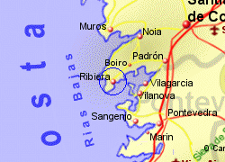 Map of the Ribeira area, fully zoomed in