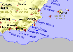 Map Of Spain La Manga.La Manga Club Golf Courses