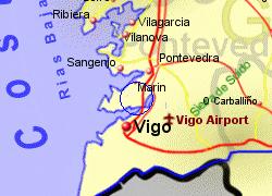 Map Of Spain Vigo.R A De Vigo Golf Course Near Vigo Galicia Spain