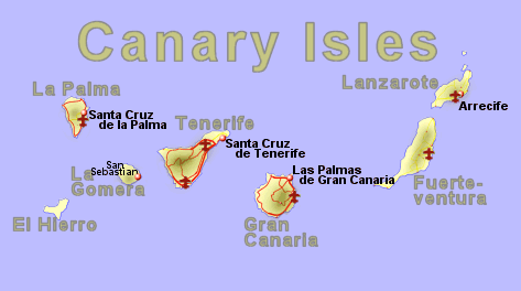 Map of the Canary Isles