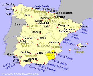 Show Murcia On Map Of Spain.The Food Of Murcia Region