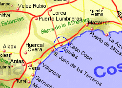 Map of the Aguilas area, fully zoomed in