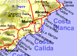 Map Of Spain Near Murcia.Dolores De Pacheco Spain Holiday Rentals B B And Sales