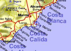 Map Of Spain La Manga.La Manga Club Holiday Rentals B B And Property Sales