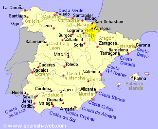 Map Of Spain Navarra.The Food Of Navarra