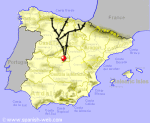 Small Map Of Spain.The Spanish Rail System Routes And Costs