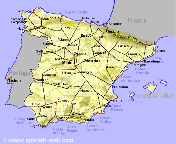 The Regional Train Network of Spain