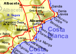 Map of the CATRAL area, normal view