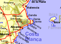 Map Of Spain Jalon.Jalon Alicante Spain Holiday Rentals B B And Sales