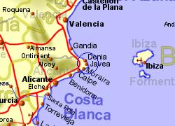 Javea Spain Map.Javea Alicante Spain Holiday Rentals B B And Sales