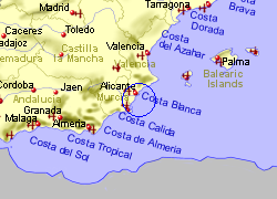 Map of the La Mata area, fully zoomed out