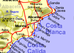 Map of the La Mata area, normal view
