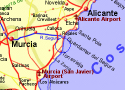 Map of the La Mata area, fully zoomed in