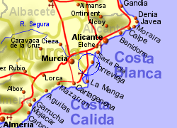 Cabo Roig Map Lomas de Cabo Roig, Spain   Information and Property