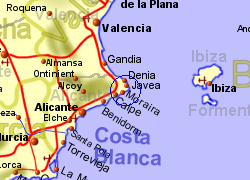 Moraira Spain Map.Moraira Costa Blanca Apartment And Country House Rentals B B