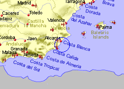 Map of the Torrevieja area, fully zoomed out