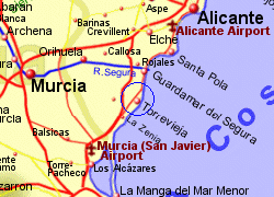 Map of the Torrevieja area, fully zoomed in