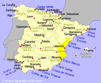 Valencia Spain Map Map Of Spain Valencia Alicante | Twitterleesclub