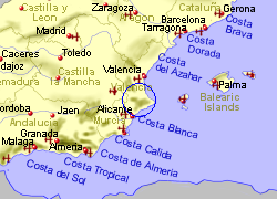 Map of the Ontinyent area, fully zoomed out