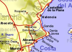 Map Of Xativa Spain.Xativa Jativa Valencia Spain Holiday Rentals B B And Sales